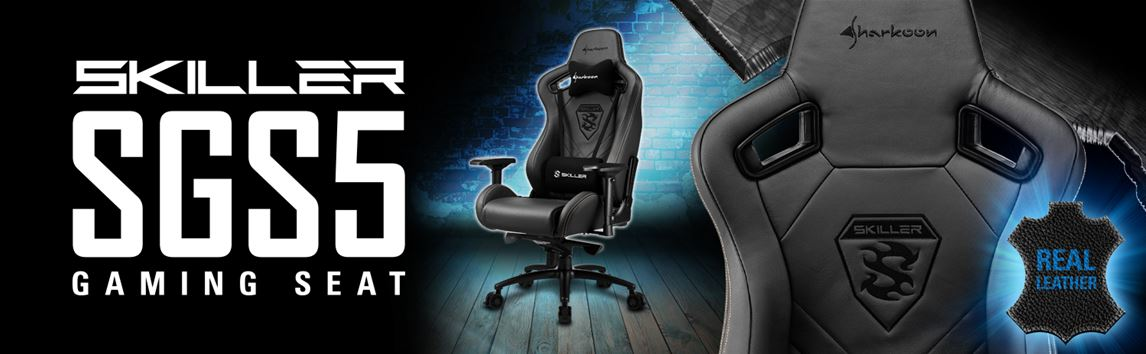 Strange Sharkoon Game Skiller Sgs5 Premium Real Leather Gaming Chair Xxl Black Squirreltailoven Fun Painted Chair Ideas Images Squirreltailovenorg